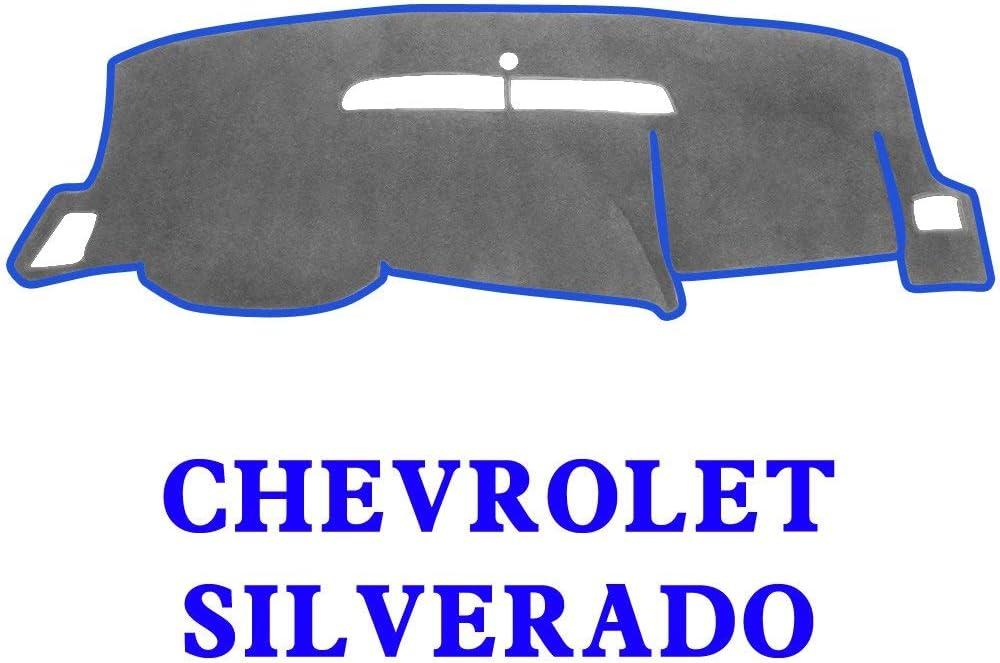 MR023 Block UV Silverado LTZ 07-13, Black YRCP Dashboard Covers for Chevrolet Silverado LTZ 2007-2013 Anti-Slip Dash Cover Mat Pad