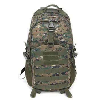 Macho mochila táctica militar camuflaje mochila moda multifunción ejército bolsa pequeña para exteriores resistente al agua bolsas de viaje, Digital Jungle: ...