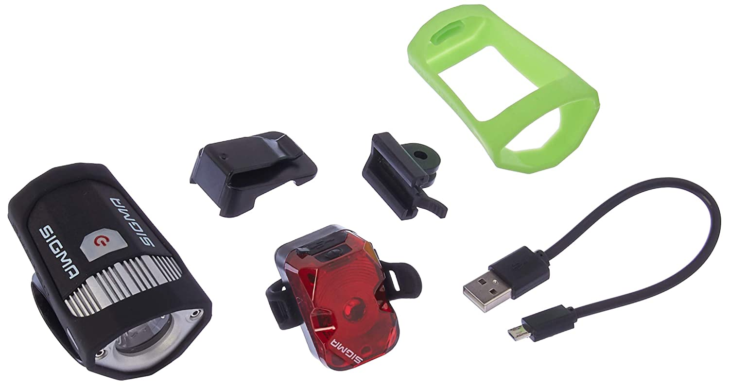 Buster 200 Nugget Flash USB Rechargeable Front and Rear Bicycle Light Set