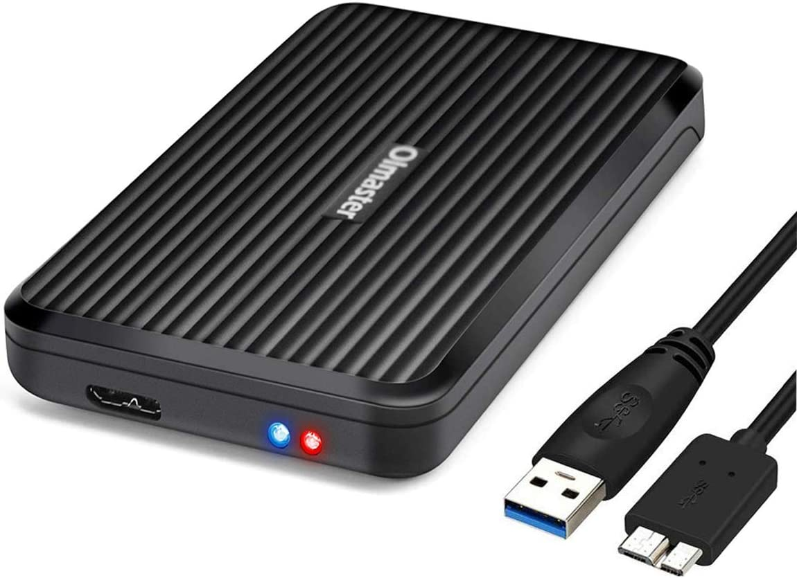 OImaster Tool Free Hard Drive Enclosure USB 3.0 Interface for 2.5 inch HDD SSD 7mm 9.5mm 12.5mm UASP Supported