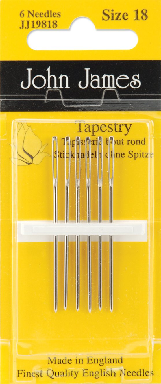 Tapestry Hand Needles-Size 18 6/Pkg John James JJ198-18