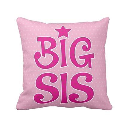 YaYa Cafe 20X20 Inches Bhaidooj Birthday Gift For Sister Cushion Cover Big Sis