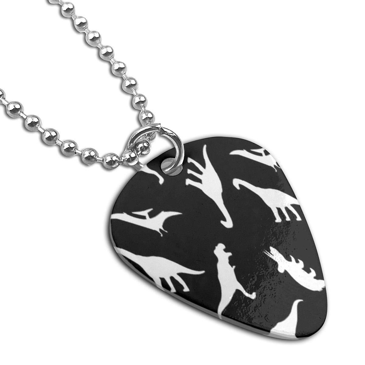 Dinosaurs Cute Dino Custom Guitar Pick Pendant Necklace Keychain
