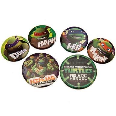 Las tortugas ninja - Pack de chapas (Talla Única/Verde ...