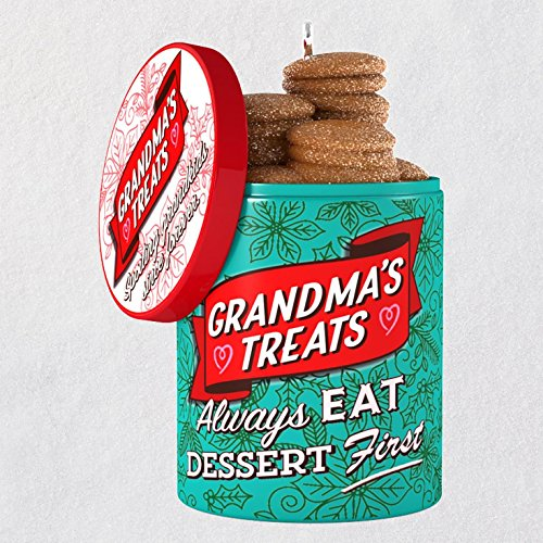 Christmas Holiday Cookie Ornament - Hallmark Keepsake Christmas Ornament 2018 Year Dated, Grandma's Cookie Jar