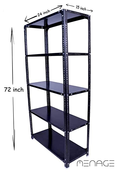 MENAGE® Slotted Angle Rack with Shelf Shelving Unit Multipurpose