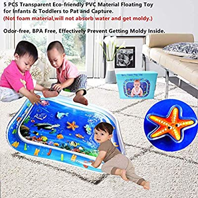 CN CRAFTS Inflatable Tummy Time Pat and Premium Play Water Mat for boy or Girl Perfect Fun Time Activity Center and Sensory Stimulation Growth Toy Gift, 30 X 24 Inch: Toys & Games
