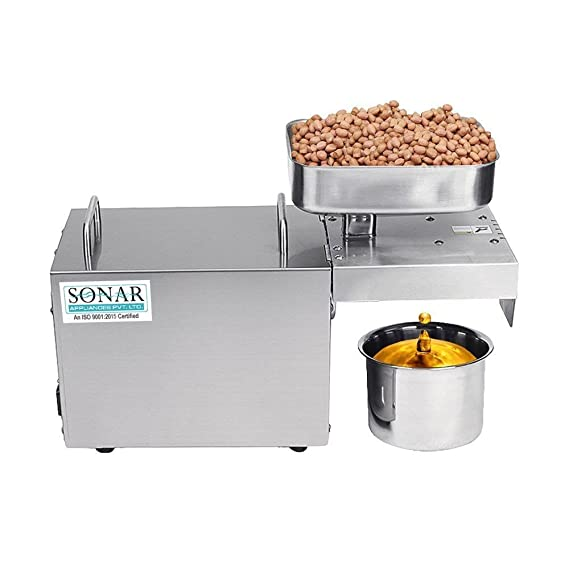 Sonar Oil Press SA-2003 Stainless Steel Body(Standard Food Grade) Juicer Mixer Grinders at amazon