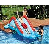 Swimline SuperSlide Inflatable In Ground Pool Water Slide by