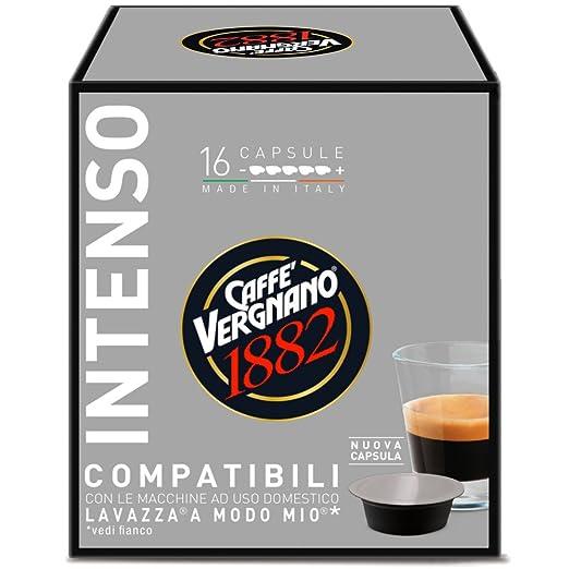 8 opinioni per 16 Capsule Caffè Vergnano 1882 Intenso Compatibili Lavazza a Modo Mio