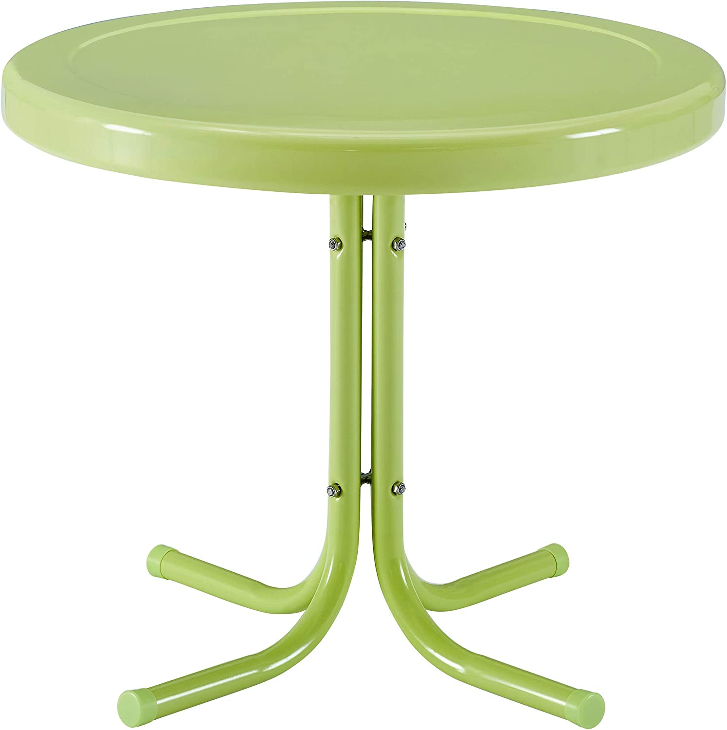 Key Lime Crosley Furniture KO10004KL Griffith 3-Piece Retro Metal Outdoor Seating Set with 2 Chairs and Side Table