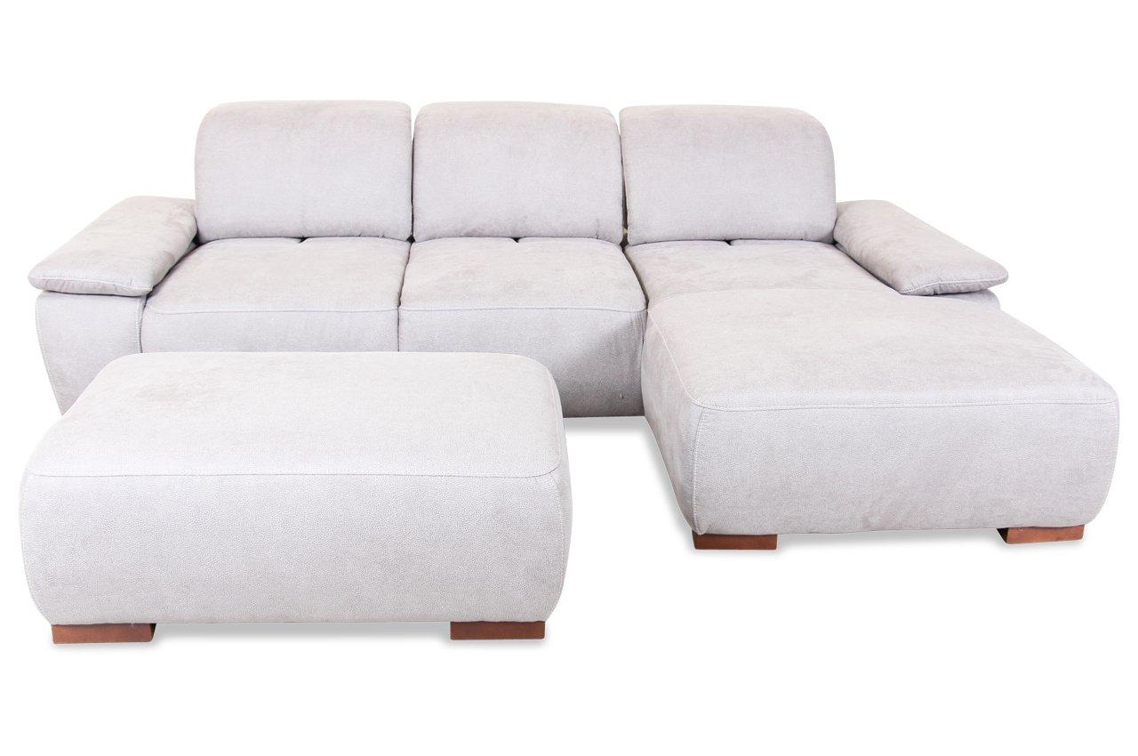 Sofa Sit&More Polsterecke Tobago - Luxus-Microfaser Grau