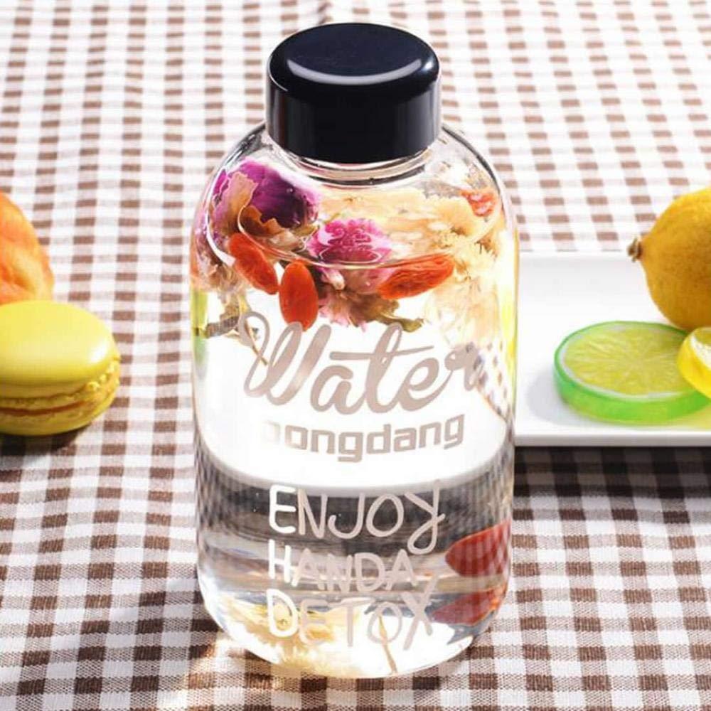... sin BPA caño Seguro Vidrio borosilicatado Botellas de Cristal (Cristal Botella de plástico Protectora y Vasos Pincel: Amazon.es: Deportes y aire libre