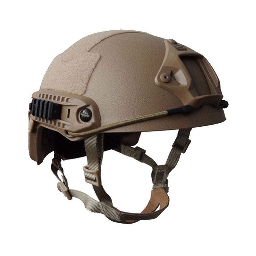 PJ Taktische Schnell Helm mit abnehmbarem Helmüberzug für Airsoft Paintball VADOOLL