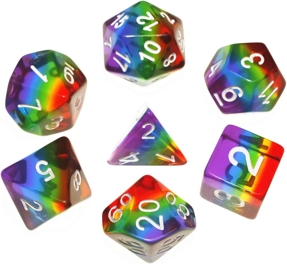 7PCS Bloody Polyhedral Dices Die for Dungeons/&Dragons DND RPG MTG Board Games