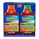 Theraflu ExpressMax Daytime/Nighttime Severe Cold & Cough Relief Syrups, Berry Flavor, 8.3 oz (Combo Pack)