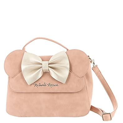 2a450c44dfb9 Loungefly x Disney Minnie Mouse Crossbody Bag with Ears and Bow (One Size,  Pink): Handbags: Amazon.com