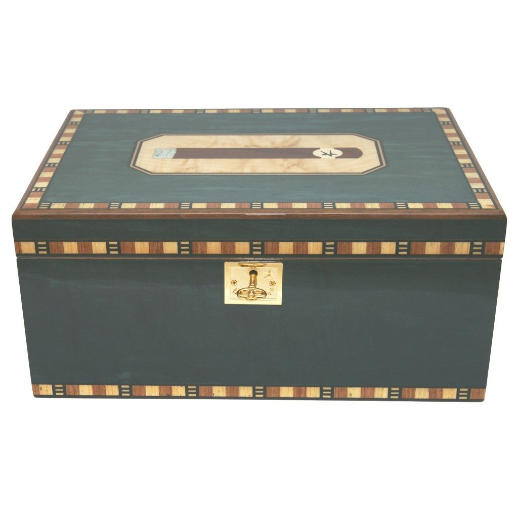 Cigar Star Cigar Humidor Limited Edition Blue Havana SPECTACULAR Details. by Cigar Star (Image #6)