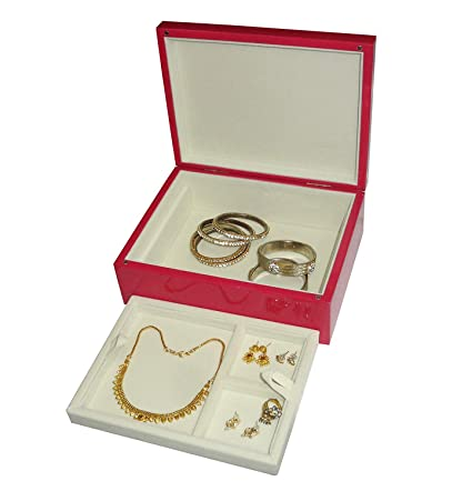 d9f007825 atorakushon® Wooden Pink Cosmetic Make Up Box Travelling Ring Earring Box  Vanity Box Jewellery Box Wedding Organizer Women and Girls: Amazon.in:  Bags, ...