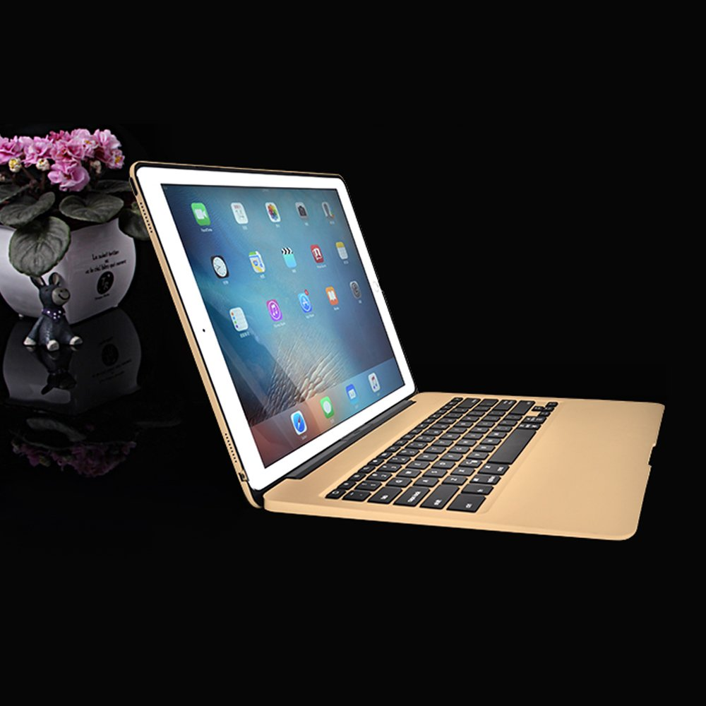 MOSTOP iPad Pro 12.9-inch Keyboard Bluetooth 7-color LED Backlit Slim Aluminum Wireless Keypad with Built-in 5600mAh Power Bank for iPad Pro 12.9'' (Gold) by MOSTOP (Image #8)