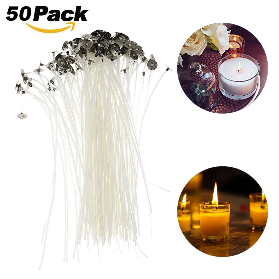 15 Pcs Pre Waxed Wicks with Tab 100 mm// 10cm long for Candle Making High Quality
