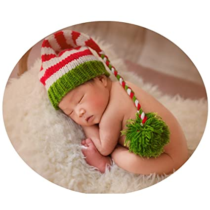 34474e56a44d8 Image Unavailable. Image not available for. Color: Zeroest Baby Photography  Props Christmas Hat ...