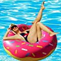 RiffSpheres Giant Donut Pool Float - Adorable 51 inch Gigantic Donut Pool Floats Raft For Adults & For Kids. Click On RiffSpheres For The Delicious Chocolate Donut Float. (Great Christmas Gifts Idea)