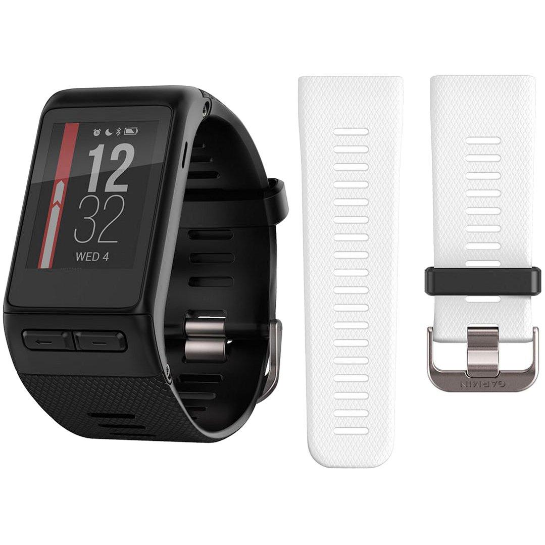 Garmin vivoactive HR GPS Smartwatch (Regular) Black w/Extra Band (010-01605-A0)
