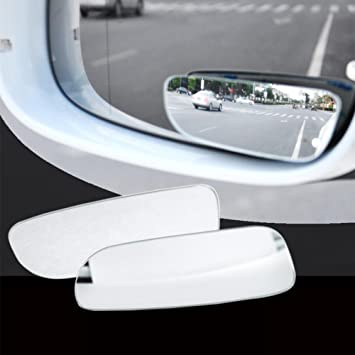 Car Mirror 360 Degree Rotation Blind Spot Auto Round Glass Convex Rear View 2Pcs