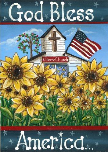 Toland Home Garden Glory Church 28 x 40-Inch Decorative USA-