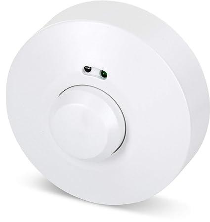 Aufputz HF Detector de movimiento 360 ° con sensor crepuscular – Radar 5.8 GHz – Apta