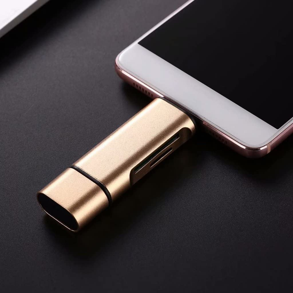 SD//TF Card Reader USB C//USB 3.0// Micro-USB Adapter for PC Tablet Silver