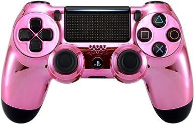 eXtremeRate - Placa Frontal cromada para Mando Playstation 4 PS4 Pro Slim (CUH-ZCT2 JDM-040 JDM-050 JDM-055): Amazon.es: Electrónica