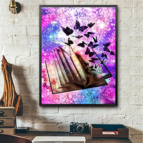 Cross Stitch Patterns,DIY 5D-Magic Book-Diamond Painting Kits for Adults Full Drill,Cross Stitch Patterns Embroidery Kits Making Supplies Art Surplies Wall Decor Decorations for Living Room ()