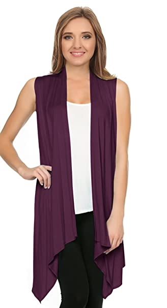 b0d46bac55a1e7 Sweaters Vessos Women Vests Sleeveless Open Front Shawl Collar Shrug Jersey  Vest Cardigan