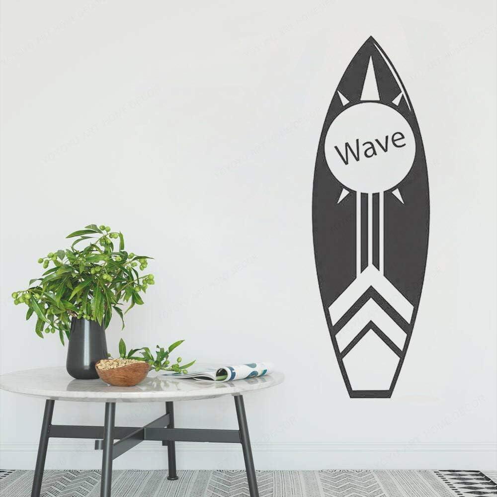 Tabla de Surf Ola Vinilo Pared Arte calcomanía Playa decoración Tabla de Surf Arte Mural Mural Deportes acuáticos Cartel 28 cm X 85 cm: Amazon.es: Hogar