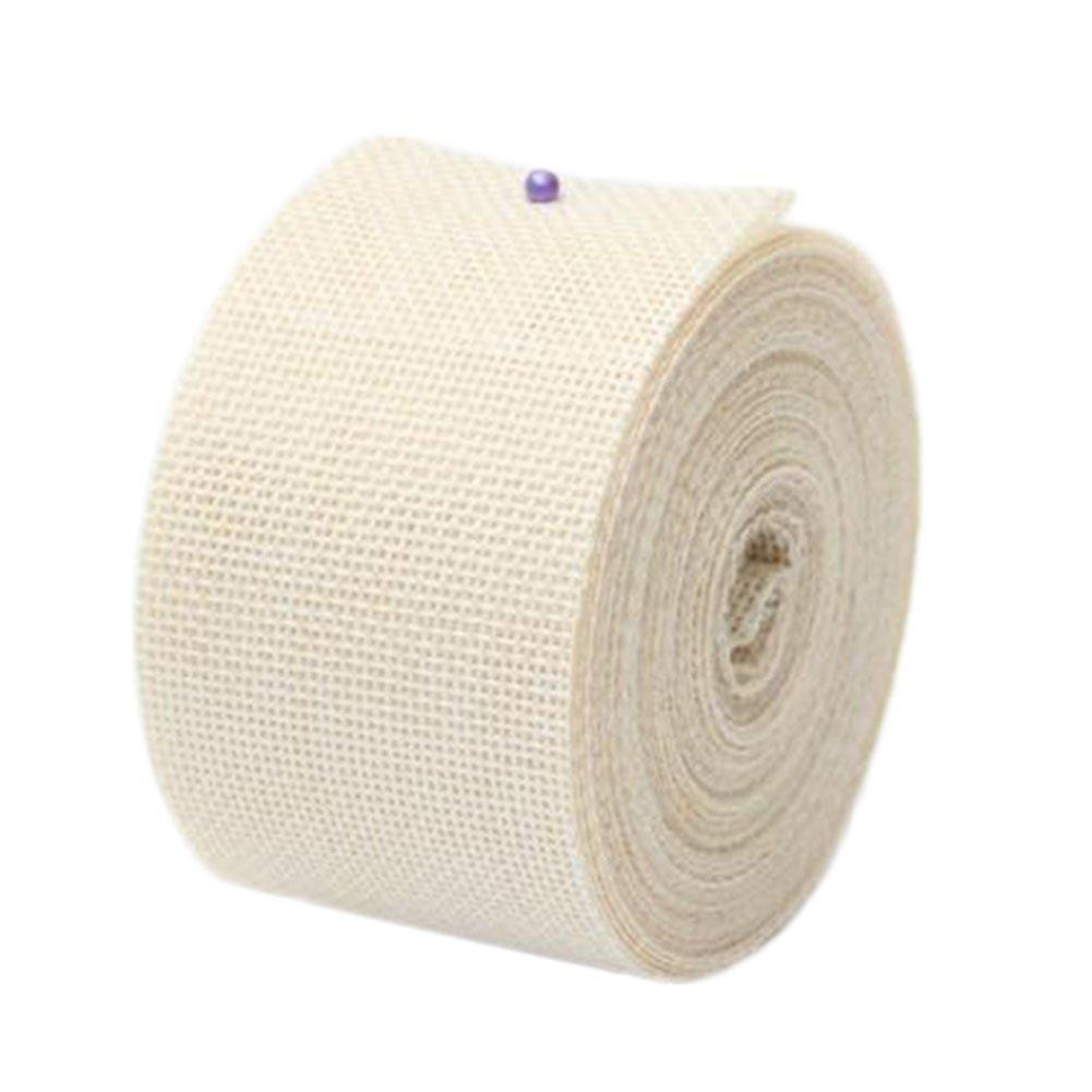 Scrox 10M Retro Style Jute Ribbon Linen Cord Craft Ribbon Wedding DIY Ribbon for Craft Wedding DIY Scrapbook Home Deco (Beige-10)