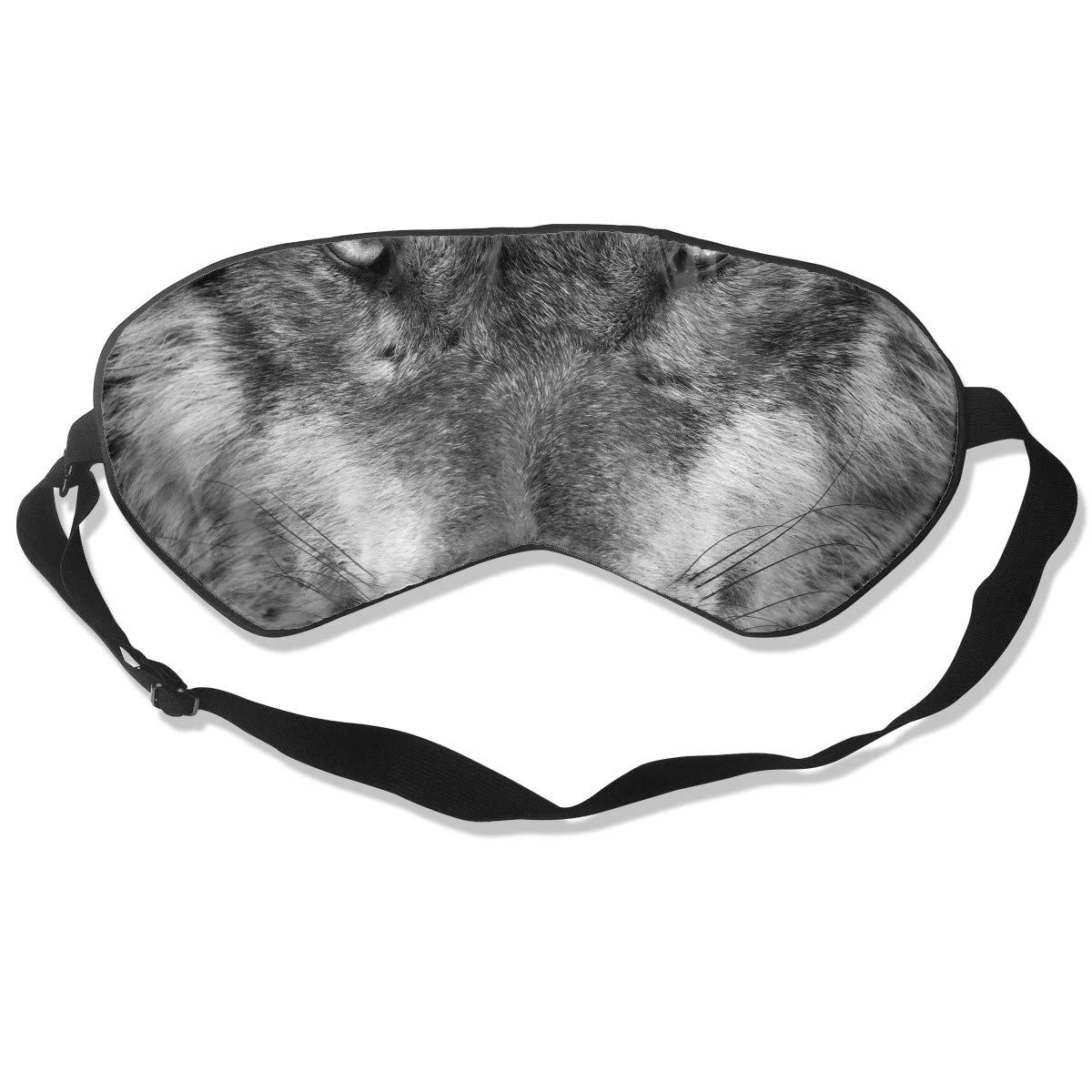 Homlife Sleep Mask 100% Silk Eye Mask Wolf Eyes Funny Pattern Eye Cover Sleeping Mask for Travelling, Night Noon Nap, Mediation Or Yoga by Homlife