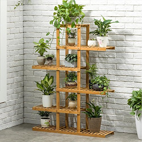 Magshion Wooden Flower Stands Plant Display Rack Choose 3 4 5 6 Shelf (6 Shelf)