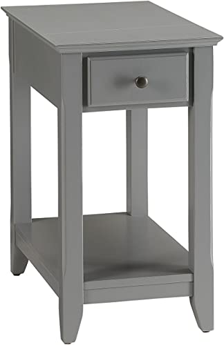 ACME Furniture 82838 Bertie Side Table, Gray, One Size