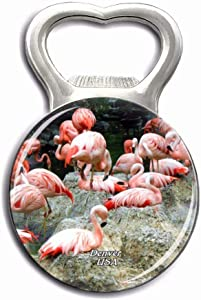 Jollin USA America Flamingo Denver Zoo Refrigerator Magnet Strong Bottle Opener Fridge Magnet Stickers Crystal Glass City Tourist Souvenirs Kitchen Whiteboard Decoration