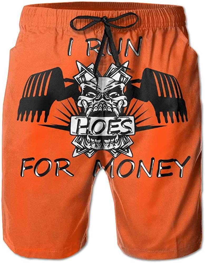 BBggyh Mans I Run Hoes for Money Summer Leisure Boys Beach Shorts Surfing Pants
