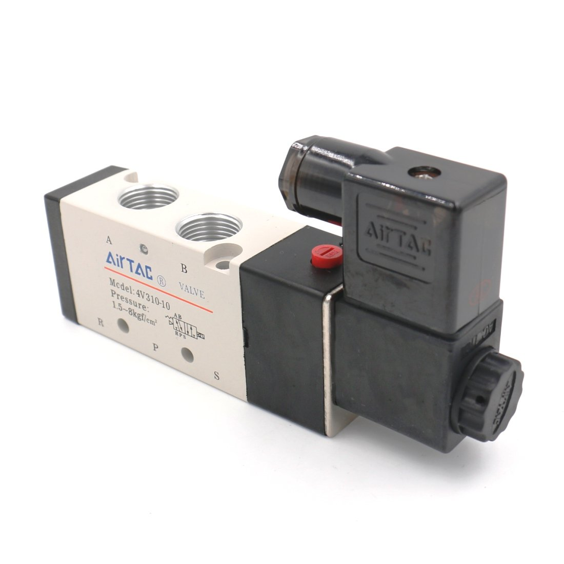 Baomain Pneumatic Solenoid Air Valve 4V310-10 AC110V 5 Way 2 Position PT3//8 Internally Piloted Acting Type Single Electrical Control