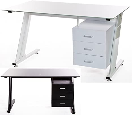 Mesa de ordenador con parte superior de cristal moderna z-frame y ...