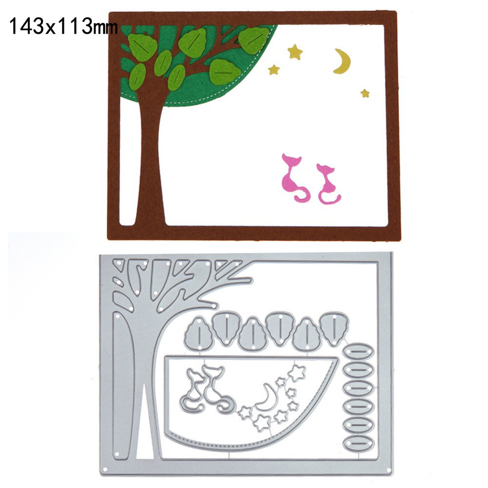 Rat Metall Stencil Cutting Dies Scrapbooking Stanzschablone Tagebuch Grußkarte