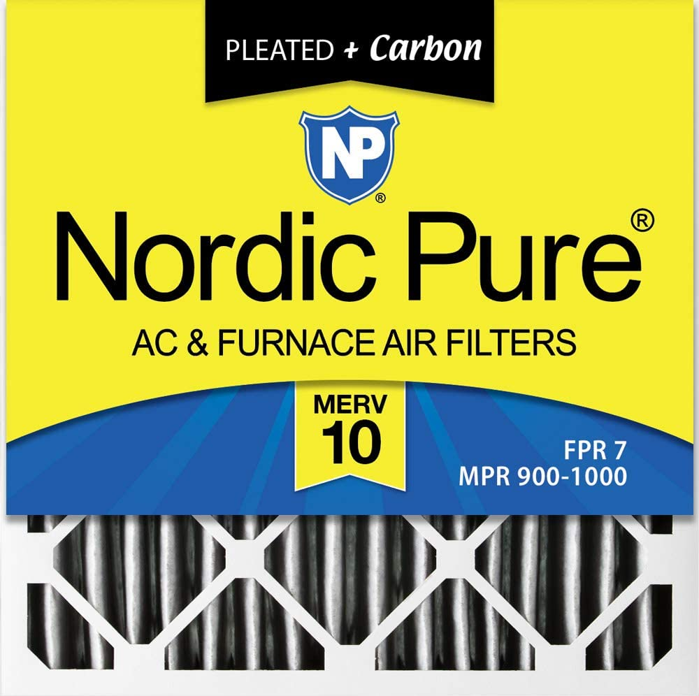 Nordic Pure 21x21x1 MERV 11 Pleated AC Furnace Air Filters 6 Pack