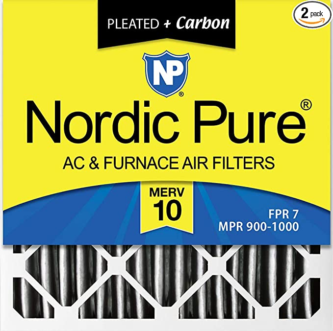 Nordic Pure 24x30x1 MERV 8 Pleated AC Furnace Air Filters 2 Pack