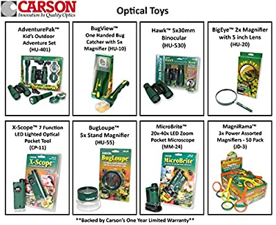 Carson X-Scope Child's Microscope-Telescope-Magnifier Multi-Tool (CP-11)