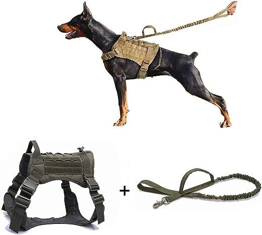Ducomi - Arnés militar táctico + correa para perro K9 ...
