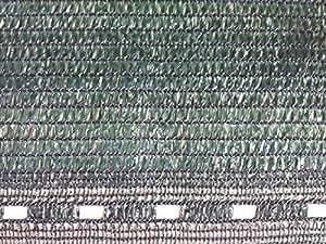 Filete Fensterbild PEAD–alternativa a los productos pesados–Filete también de sombreado–acabado laterales alfiler verde oscuro 2M x 10m